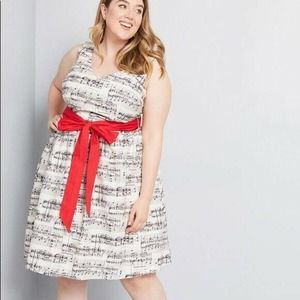 ModCloth NWT Musical Notes Dress Fit And Flare